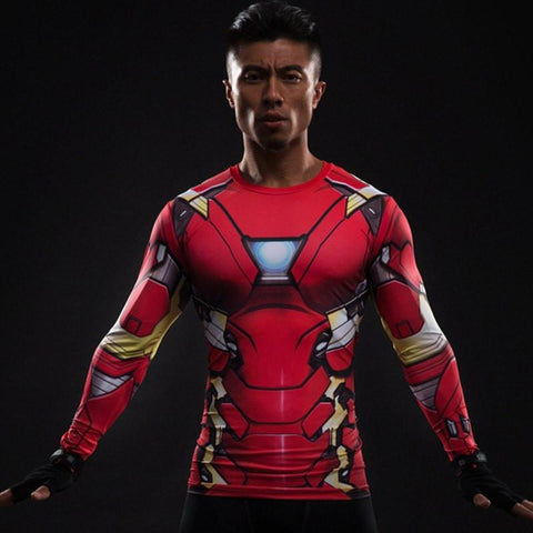 Iron Man Long Sleeve Compression Shirt - My Hero Swag