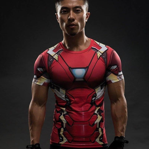 Iron Man Compression Shirt - My Hero Swag