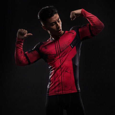 Deadpool Long Sleeve Compression Shirt - My Hero Swag