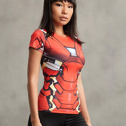 Women's Iron Man Compression Shirt - My Hero Swag