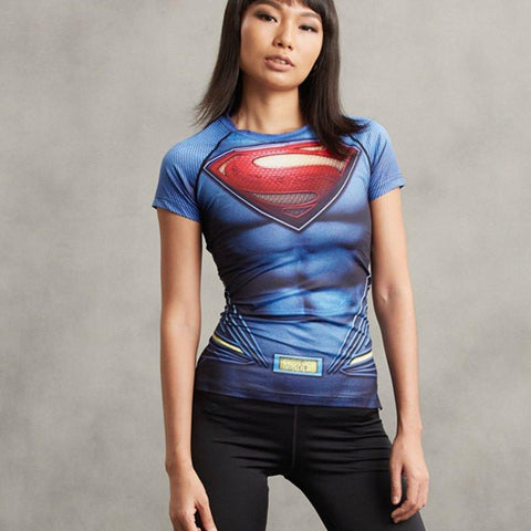 Women's Superman Compression Shirt - My Hero Swag