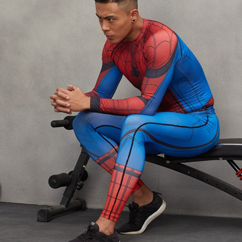 Spider-man Compression Leggings - My Hero Swag