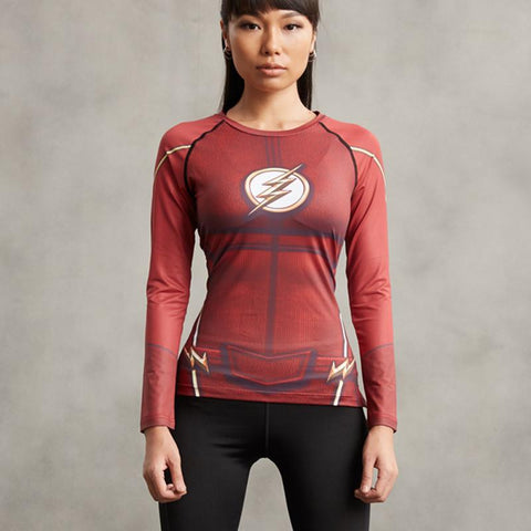 Women's Flash Long Sleeve Compression Shirt