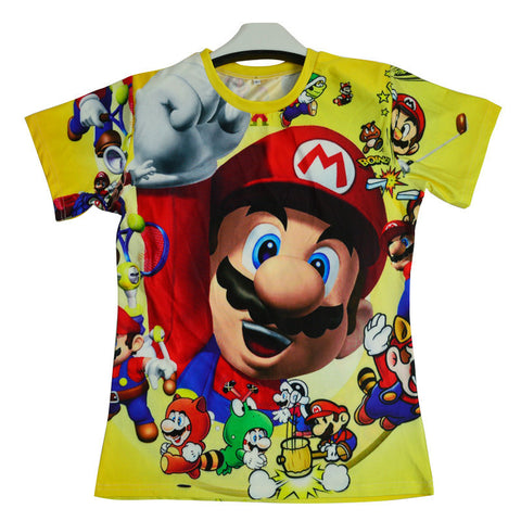 Summer Super Mario Compression Shirt