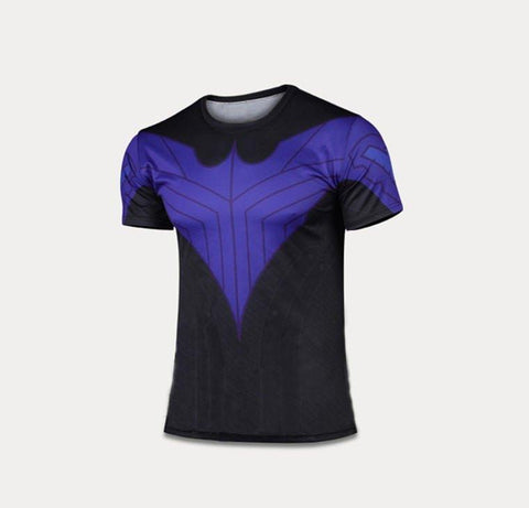 Nightwing Blue Compression Shirt - My Hero Swag