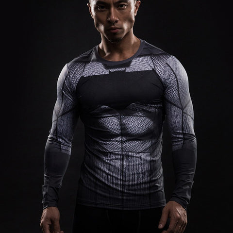 Batman Long Sleeve Compression Shirt - My Hero Swag