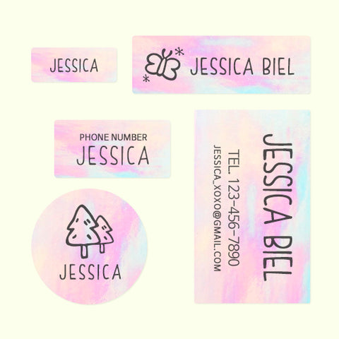 Custom Name Sticker Name Labels Daycare Labels Camp Labels School Labels