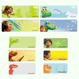 The Good Dinosaur Character Medium Name Stickers
