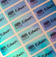 [Waterproof Name Labels, Name Sticker, Daycare Labels, Camp Labels, School Labels ] - Rainbow Labels