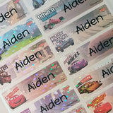 Waterproof Name Labels, Name Sticker, Character Labels, Disney Car 2  Name Labels