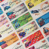 Car 2 Character Medium Name Stickers