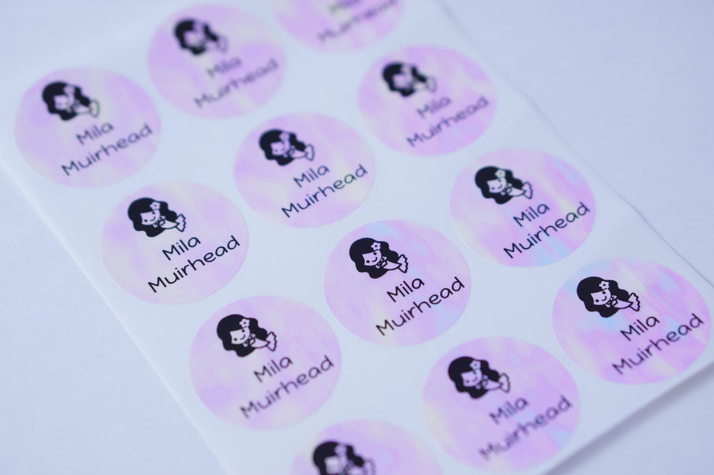 Pinkpoly Round Waterproof Name Labels