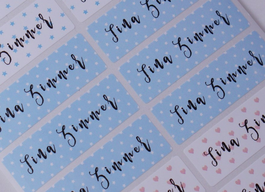 Pattern Name Labels Name Stickers