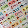 Happy Child Character Mini ★44 Name Stickers★