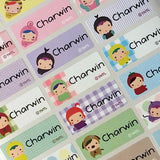 Happy Child Character Medium Name Labels