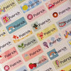 Happy Color Character Small Name Stickers