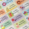 Happy Color Character Medium Name Labels