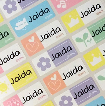 Happy Icon Character Medium Name Stickers