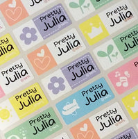 Waterproof Name Labels, Name Sticker, Character Labels,  Cute Name Labels
