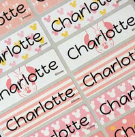 Waterproof Name Labels, Name Sticker, Character Labels,  Disney Minnie Mouse Name Labels