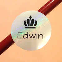 snow pearl round waterproof name labels