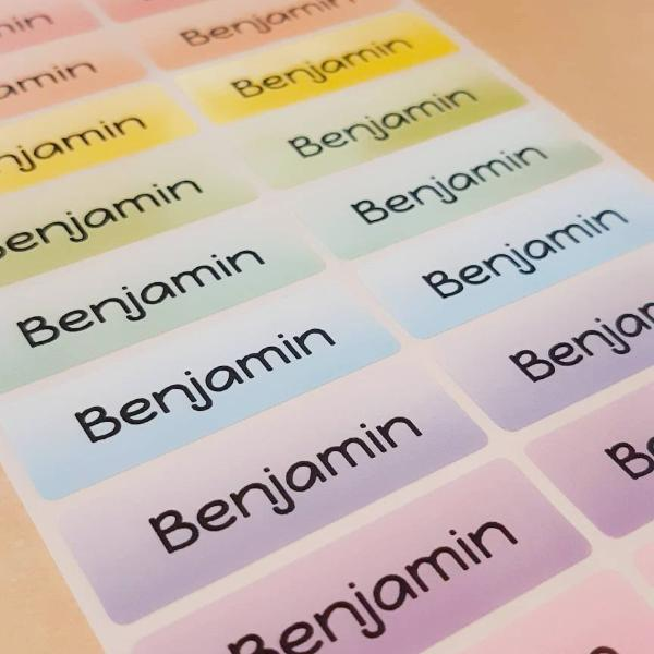 Rainbow colors Name Labels Name Stickers