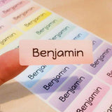 Vivid Rainbow Large Name Labels