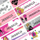Mattel Barbie Character Waterproof Name Labels