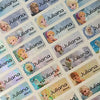 Frozen Character Small Name Stickers