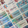 Frozen Character Medium Name Stickers