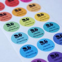 Rainbow Labels round Name Labels