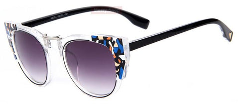 Sunglasses - Multi-Color Edges Cool Cat Sunglasses