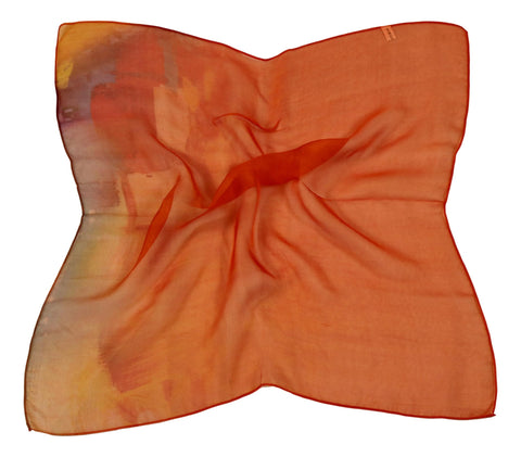 Silk Neckerchief Small Square Silk Scarf Orange Theme QFJ121
