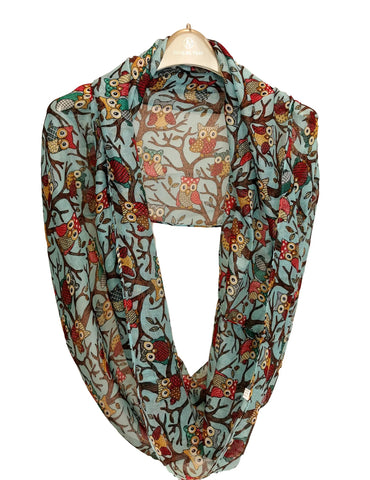 Infinity Loop Viscose Scarf Turquoise Color LOOP004