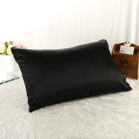 Yangtze Store 100% Silk Pillowcase Black Color PC03