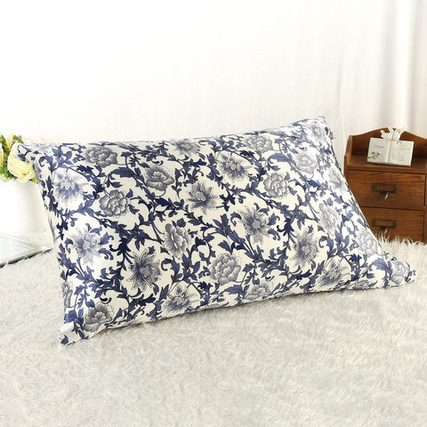 Yangtze Store 100% Silk Pillowcase Blue and White PC04