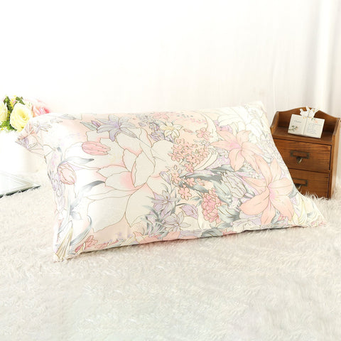 Yangtze Store 100% Silk Pillowcase Pink with Lily Print PC35
