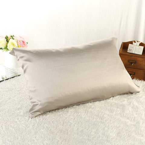 Yangtze Store 100% Silk Pillowcase Silver Color PC16