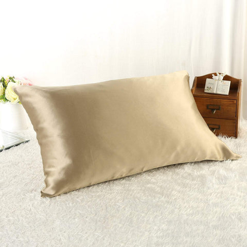 Yangtze Store 100% Silk Pillowcase Taupe Color PC08