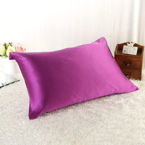 Yangtze Store 100% Silk Pillowcase Violet Color PC17