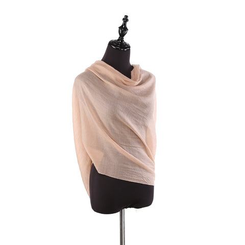Yangtze Store 100% Wool Scarf Solid Plain Color Brown WO2107