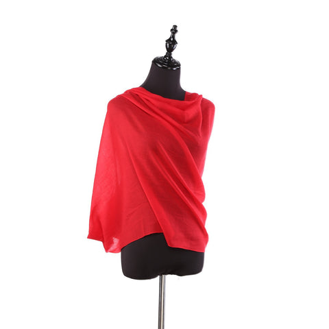 Yangtze Store 100% Wool Scarf Solid Plain Color Red WO2106