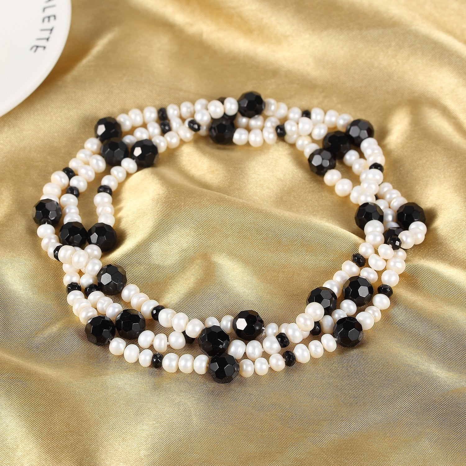 peacock beads loose lr inch cutout pearls string black freshwater potato