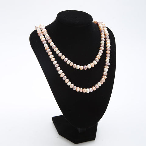 "Yangtze Store 48"" Freshwater Pearl Endless Necklace Mixed Color PN214"