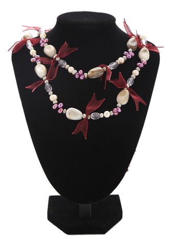 "Yangtze Store 71"" Endless Necklace Freshwater Pearl with Crystals PN224"