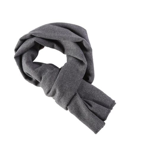 Yangtze Store Cashmere Feel Long Scarf Solid Grey Color FCA001