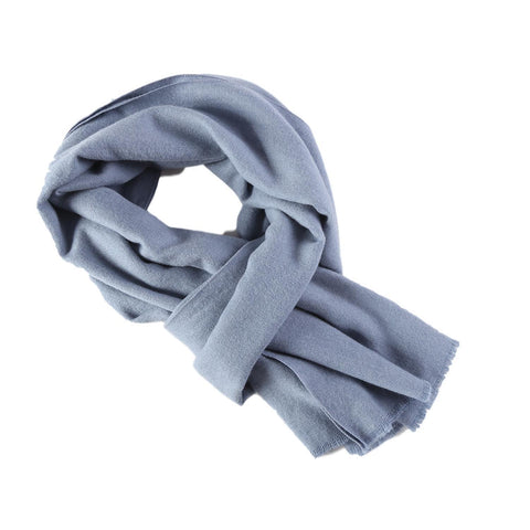 Yangtze Store Cashmere Feel Long Scarf Solid Light Blue Color FCA002