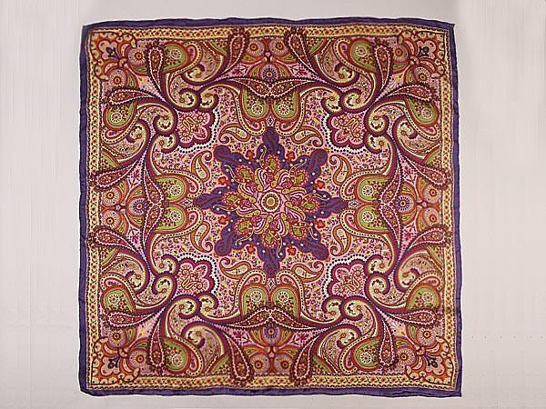 Extra Large Square Silk Scarf 43x43 Quot 110x110cm Paisley