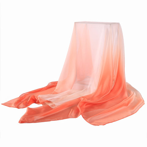 Yangtze Store Extra Wide Chiffon Scarf Beach Scarf Gradient Red Color CHD403