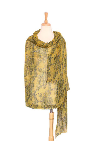 Yangtze Store Extra Wide Flax and Rayon Pashmina Wrap Shawl Scarf Yellow PSH502